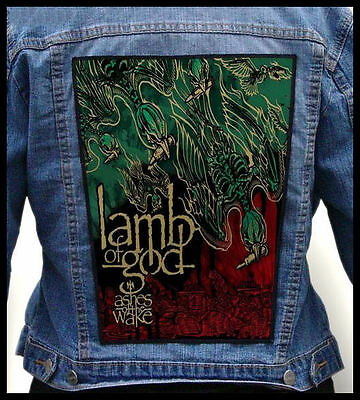 LAMB OF GOD - Ashes of the Wake  --- Giant Backpatch Back Patch /