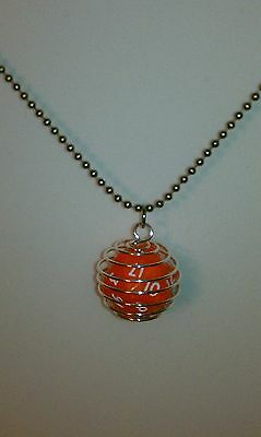 D20 dice necklace, Traveling D20 in a cage with ball chain
