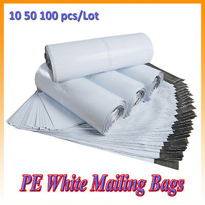 PE White Mailing Bags Postal Sacks Envelopes Mailers Plastic Poly Self Seal