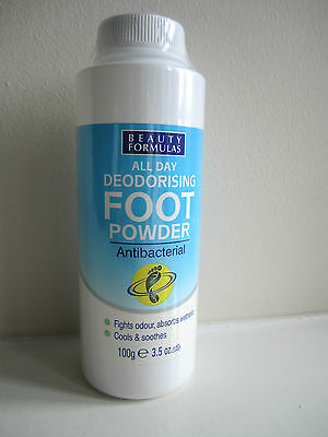 Foot Powder Antibacterial Odour Control Powder All Day Deodorising- New Sealed