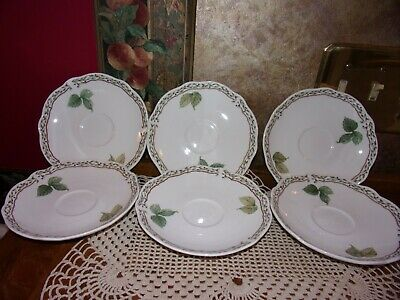 RARE Set 6 Noritake Primachina  Royal Orchard Saucers Dessert Bread Plates Dish