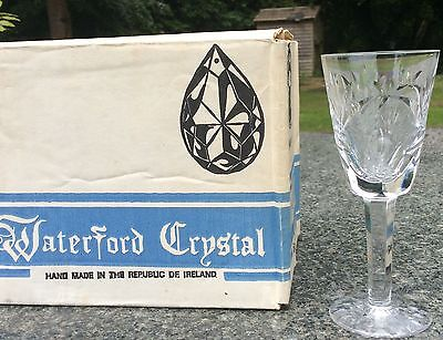 Waterford Crystal Sherry Glasses x 6. Free post worldwide. New in original box!