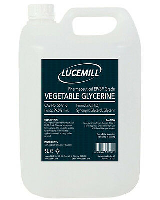 5 LITRE VEGETABLE GLYCERINE VG (99.5%) USP Pharmaceutical Grade E Liquid Vape