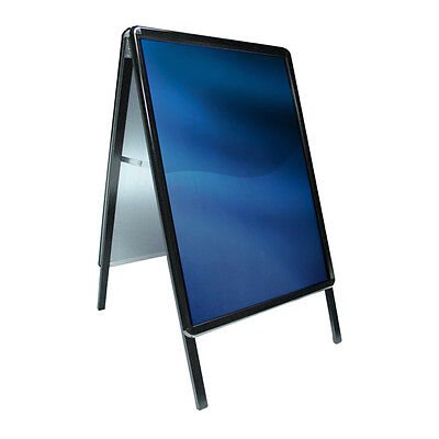 A1&a2 A-Board Black Pavement Sign Poster Snap Frame Sign Display Stands