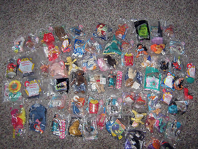 LARGE LOT OF 64 MCDONALD'S HAPPY MEAL TOYS  NEW IN PACKAGE
