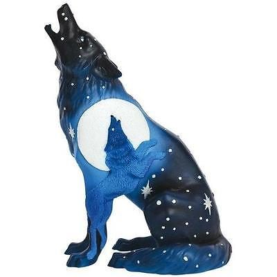 Westland Giftware Call of The Wild Ceramic Figurine, 6.25-Inch, Wolf Eclipse New