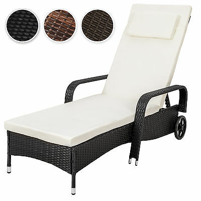 Rattan day bed sun canopy lounger recliner garden patio terrace furniture