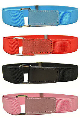 Kids Velcro Belts/Childrens Belts. Boys & Girls Elasticated Velcro Belts 1-6 Yrs
