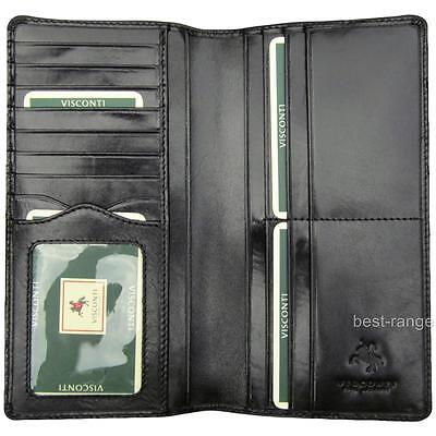 Jacket Suit Wallet Real Leather Black Quality New in Gift Box Visconti MZ6