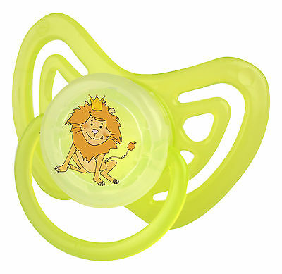 Orthodontic Pacifier Hippo Green from 6 Months Size 2