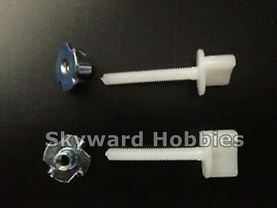 Nylon Wing Bolt with Blind Nut Set of 2    M4 x 30mm                   US Vendor