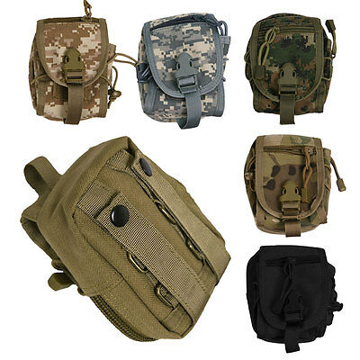 Outdoor Military Tactical Molle Utility Hiking Fanny Pack Waist Belt Pouch Bag