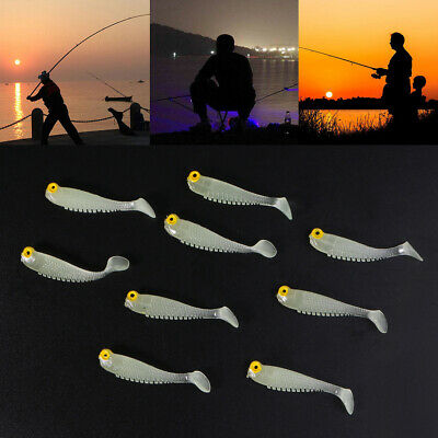10pcs 5cm Soft Silicone Tiddler Fish Bait Soft Plastic Fishing Lure Mixed Colors