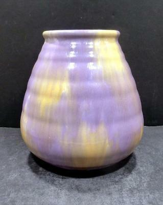 "Roseville Imperial II Purple And Gold Vase 469-6"" - MINT"
