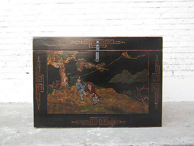 China Chest fine golden paint on black lacquer Landscape only by  Luxury Park