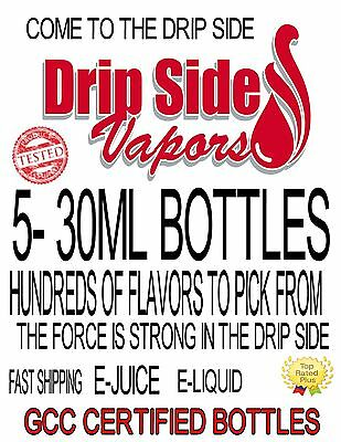 5-30ml Bottles PREMIUM E-JUICE-E-LIQUID-100+ FLAVORS TO PICK FROM MADE IN USA