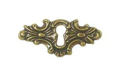 "AN0199, ANTIQUE BRASS FINISH HORIZONTAL  ORNAMENTAL KEYHOLE PLATE  2 1/4"" x 1"""