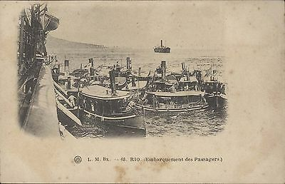 Brazil Rio Embarquement Des Pasagers Lm Bx N°63
