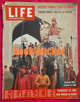 LIFE International February 27, 1961: Queen in India / Russia in Winter
