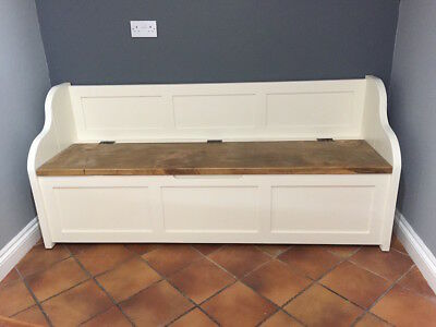 6ft Rustic Style Window Seat/Bench/Settle/Pew with Storage (MADE TO ANY SIZE)