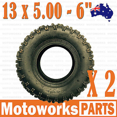 "2 X 13 x 5.00 - 6"" inch Tyre Tire ATV QUAD Bike Gokart Scooter mini Buggy Mower"