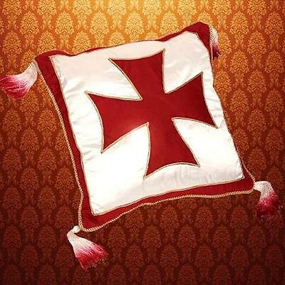 """MEDIEVAL Knight Crusader Middle Ages TEMPLAR CROSS Satin PILLOW CASE 15"""" x 15"""""""