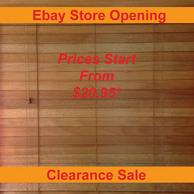 Timber Venetian Blinds 50mm Basswood - Country Oak - Various Sizes
