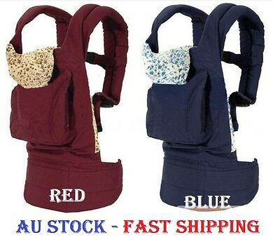 Baby Care Baby Carrier Infant Sling Front & Backpack Red / Blue Color Au Stock