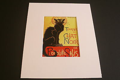 Le Chat Noir - Brand New Classic French Mounted Mini Print 10 x 8
