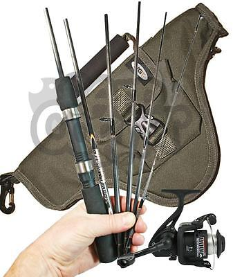 Fishing Travel 6ft 6 Piece Carbon Rod And Reel Set With Holdall Ideal Holiday