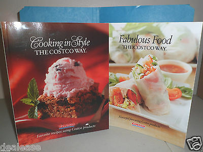 LOT OF 2--COSTCO COOKING THE COSTCO WAY 2006 & 2014 NEW