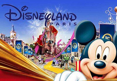 DISNEYLAND PARIS FRANCE - Travel Souvenir Fridge Magnet 4 #fm86