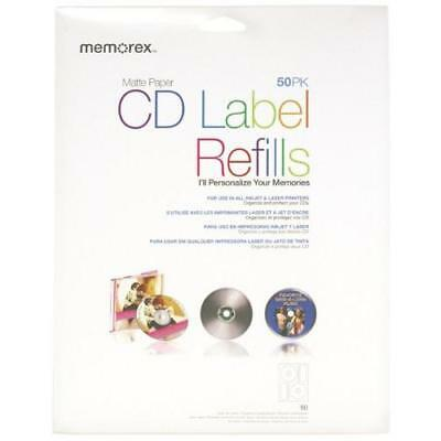 Memorex White CD-R Labels 3202-0412, 50-Count New
