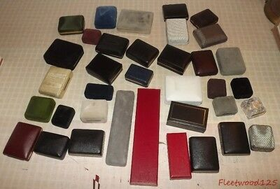 Lot of 35 Spring Action Jewelry Cases Boxes Displays - Various Sizes