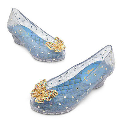 NWT Disney Store Princess Cinderella Costume Shoes Butterly 9/10 Girls