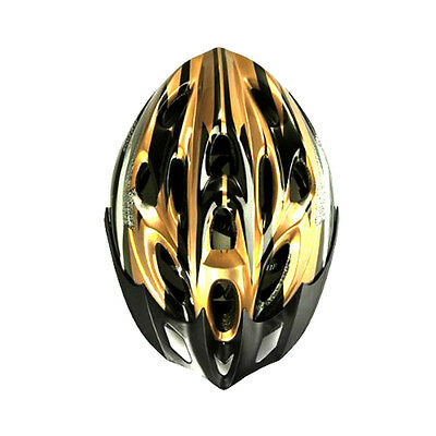 Gold Black Mountain Road Race Bicycle Bike Cycling Safety Unisex Helmet