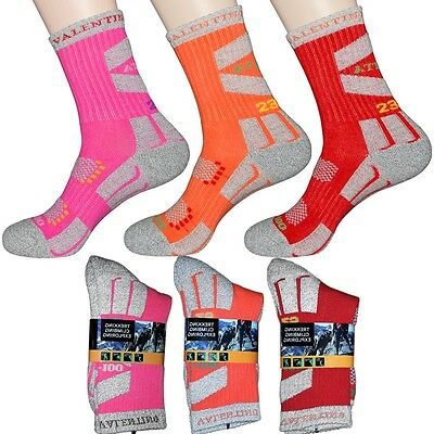 3 Pairs Lot Womens Trekking Outdoor Hiking Socks Quick Dry Performance Fabrics