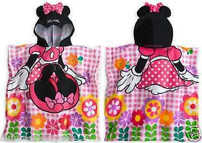 Minnie Mouse Hooded Towel For Children ~Disney Store~ Free Priority Shipping