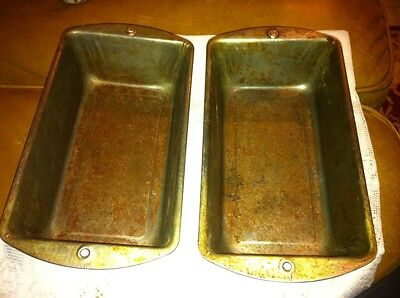 SET OF 2~Vintage BAKE BREAD LOAF PANS Used With Love