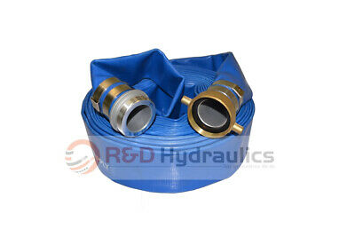 "1-1/2"" x 50 Ft. Blue Water Discharge Hose w/Pin Lug Fittings"