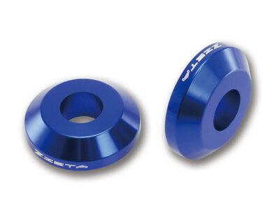 Zeta NEW Mx Yamaha YZ YZF WRF 125 250 450 Blue Motocross Fast Rear Wheel Spacers