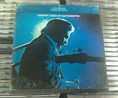 """Johnny Cash – Johnny Cash At San Quentin 7"""" Reel Audio Tape Columbia 4 Track"""
