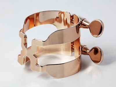 HARRISON Style T Pink Gold Plated Ligature for Selmer Tenor Rubber Mouthpiece