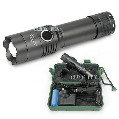 XM-L T6 USB LED Zoomable 2400Lm 18650 Rechargeable Battery Flashlight Torch Bike