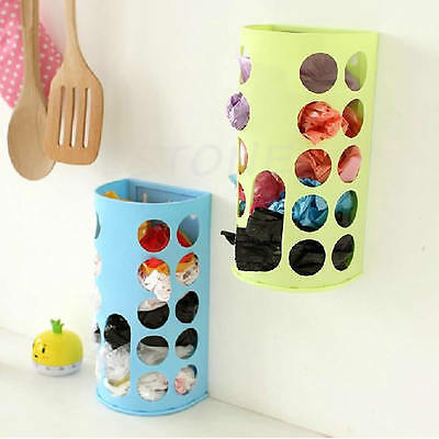 Organizer Recycle Wall Mount Plastic Carrier Bag Storage Container Holder