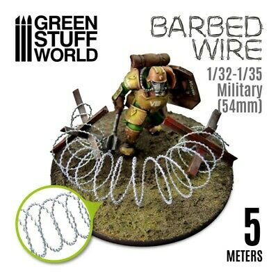 5 meters BARBED WIRE - 16 feet of simulated Razor Wire - Basing Model Railway