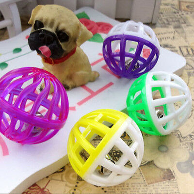 6X Colorful Bird Jingle Bell Balls Dog Cat Parrots Pet Chew Sound Training Toy