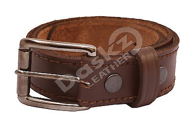 MEN'S LEATHER BELT (100% GENUINE) Brown 30'' to 64''