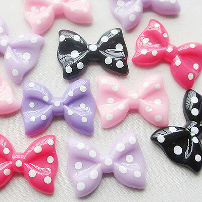 20pc Cute Resin Bow Flatback Button DIY Scrapbooking Appliques