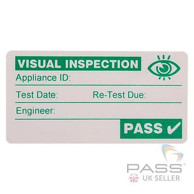 500 x Visual Inspection PASS Labels - Green